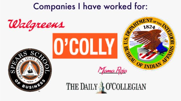 Companies I have worked for